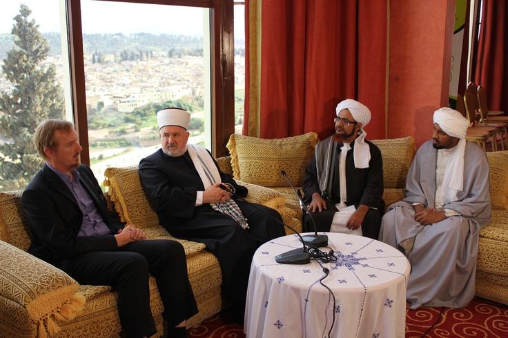 Shaykh Abdal Hakim Murad, Dr. Mustafa Ceric, Habib Umar bin Hafiz and Shaykh Mohammed Garibullah