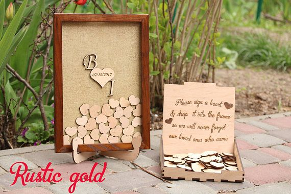 Wedding guest book alternative Rustic guestbook Drop box idea