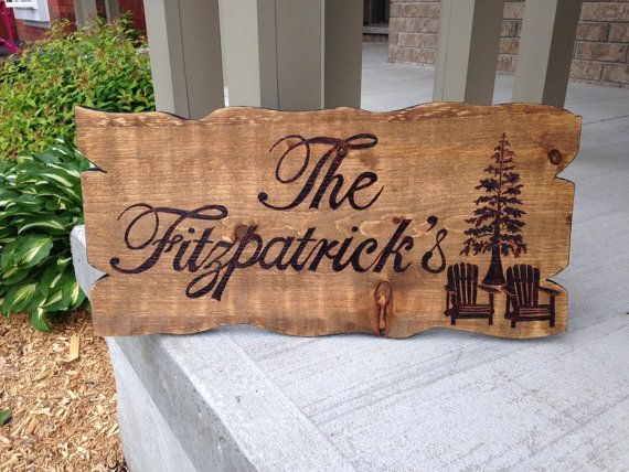 Wood burned family trailer/cottage sign by InHouseExpressionsby