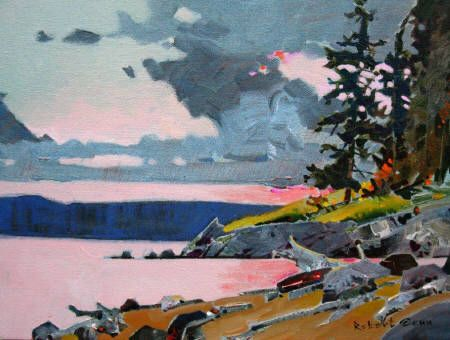 Storm and Light in the Copeland Islands by Robert Genn SFCA presented by Hambleton Galleries