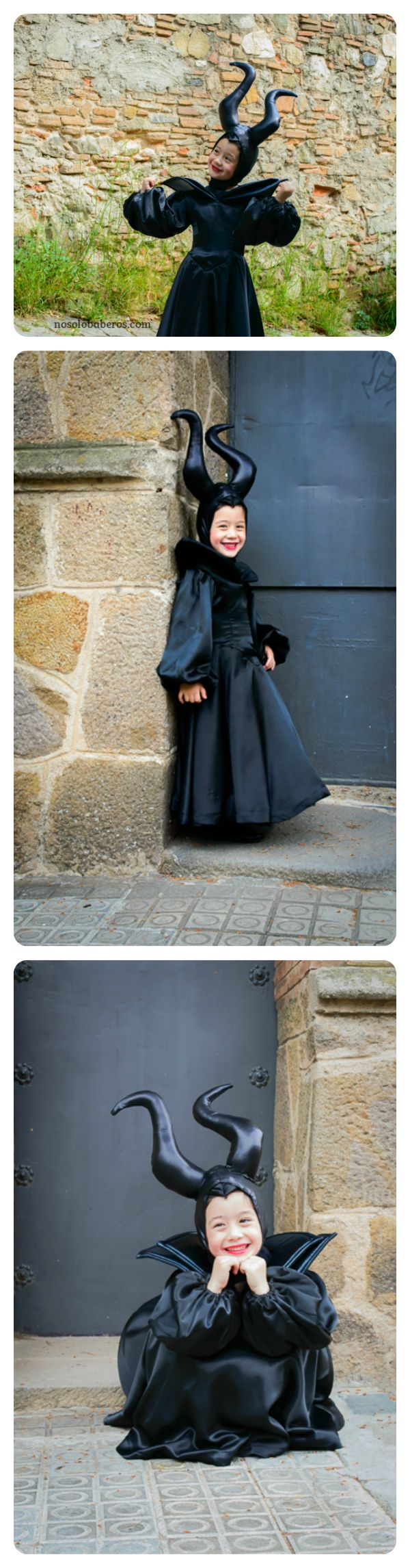 Disfraz infantil de Malefica #Maleficent #carnaval #lovely #nosolobaberos