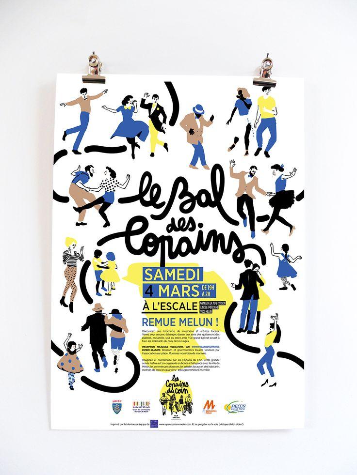 Affiche le Bal des Copains / Bal populaire / Melun