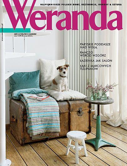 Okładka magazynu Weranda 3/2013 www.weranda.pl fot. A. Tryczyńska stylizacja A. O. Chmielewska
