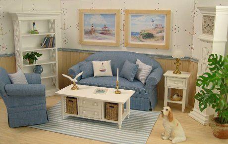 Miniature Coastal Style Living Room
