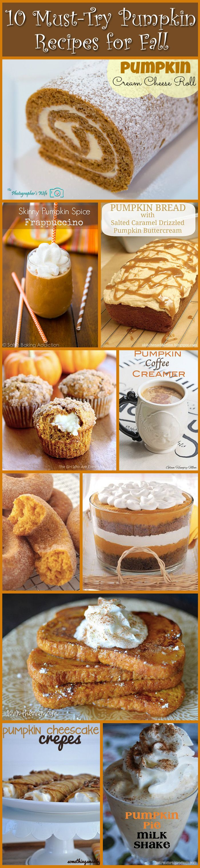 10 MUST-TRY pumpkin recipes for Fall!