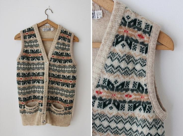 1970s Fairisle knitted waistcoat