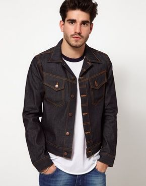 Nudie Denim Jacket Conny Back Embro Organic Dry $193.47