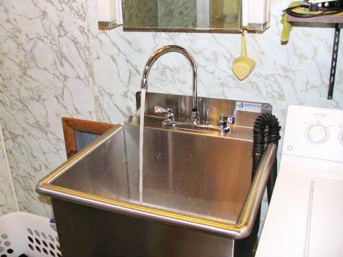 MOEN M Dura 2 Handle High Arc Standard Kitchen Faucet In Chrome. Garage  BathroomUtility SinksUtility ...
