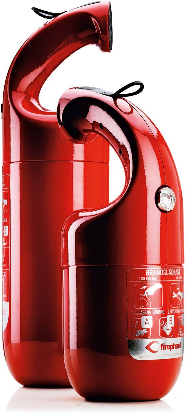Firephant fire extinguisher by Lars Wettre and Jonas Forsman (reddot design award best of the best 2012)