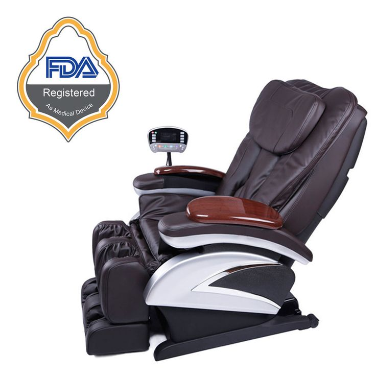 New Electric Full Body Massage Chair Recliner With Heated Foot Rest FREE SHIPPING   full body shiatsu massage chair recliner