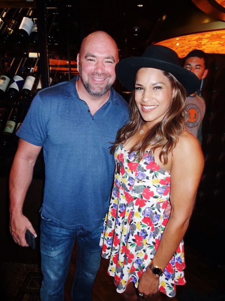 UFC fighter, Julianna Pena, with UFC President, Dana White, at Andiamo Italian Steakhouse.