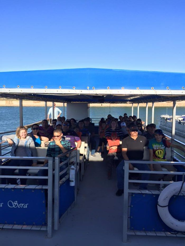 Carlsbad Cruises offers two boats. One is capable of holding 49 people, while the other is a 20-seater pontoon, which is great if you're with a larger group.