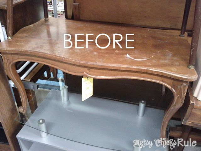 Makeover with PolyShades & Chalk Paint!! Old Thrift Store Coffee Table artsychic...