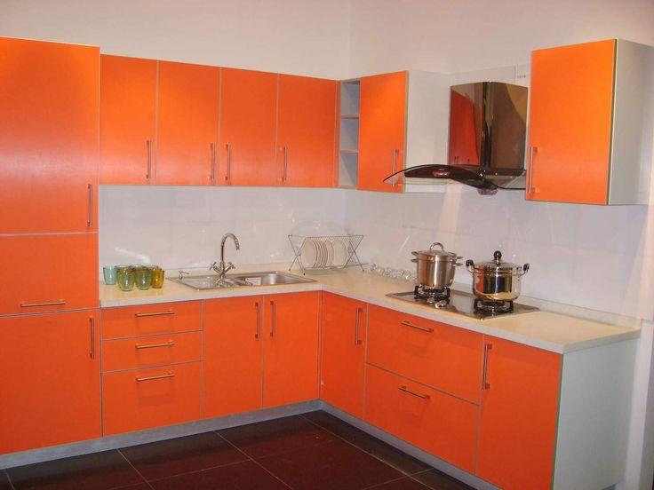 Orange And White Kitchen Cabinets Design Ideas  Kitchen Design Unique Simple Interior Design Of Kitchen Review