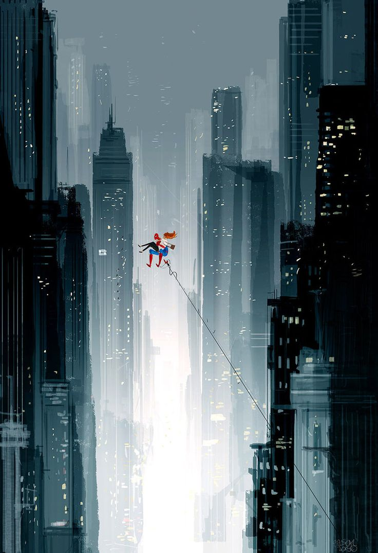 Spiderman, Spiderman.., 2015. Digital art.  Pascal Campion