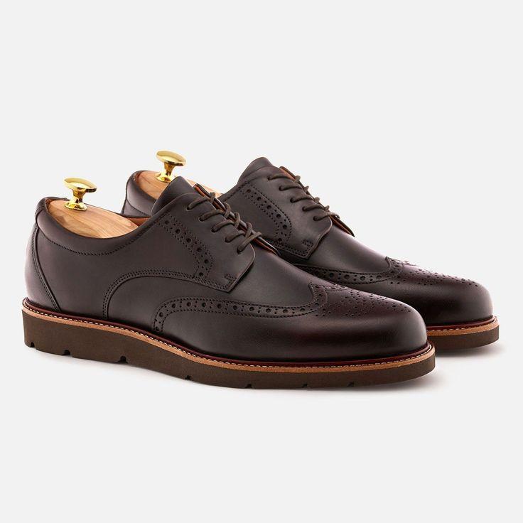 Lewis Wingtip - Calfskin Leather - Brown