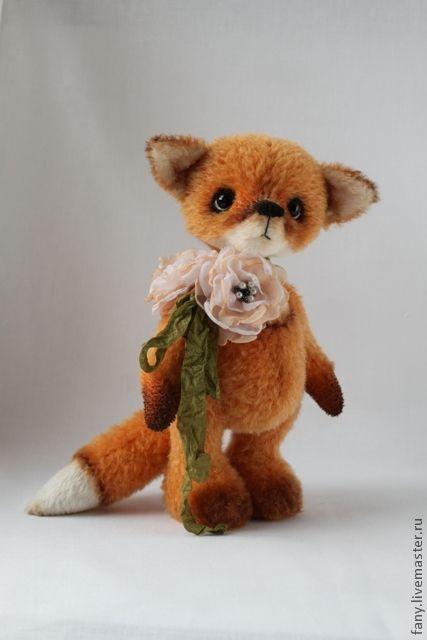 Купить Лисёнок Огонёк - друг мишки тедди. - оранжевый, лиса, лисенок, друг тедди
