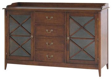 "Wayborn Eiffel Sideboard in Brown - Transitional - Buffets And Sideboards - Cymax Dimensions: 37""H x 59""W x 16.5"