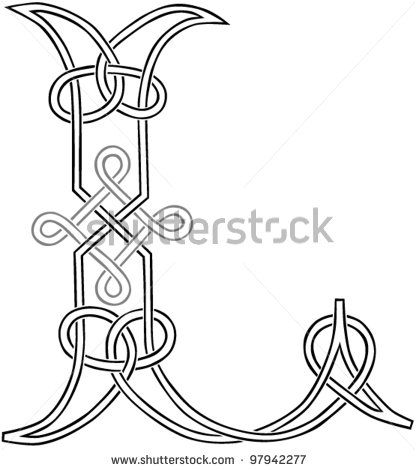 A Celtic Knot-work Capital Letter L Stylized Outline. Vector Version. by Theo Malings, via ShutterStock