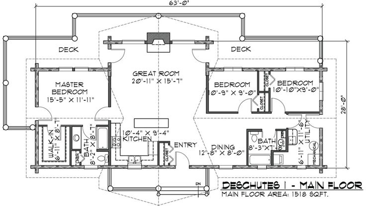 1000 ideas about log cabin plans on pinterest small log for One story log cabin floor plans