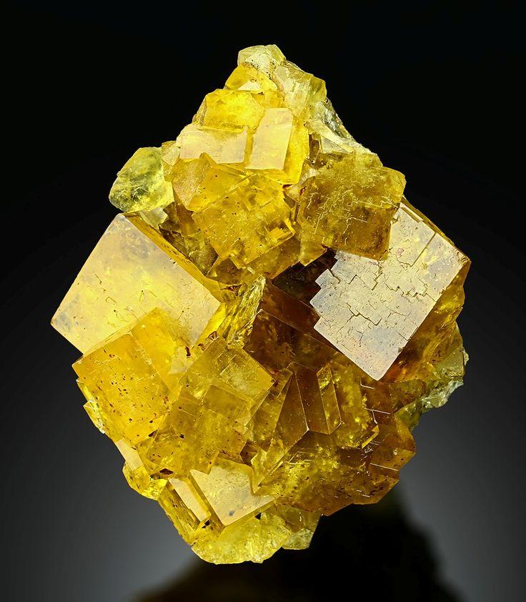 Minerals and Crystals — Fluorite - Valzergues, Aveyron, Midi-Pyrénées,...