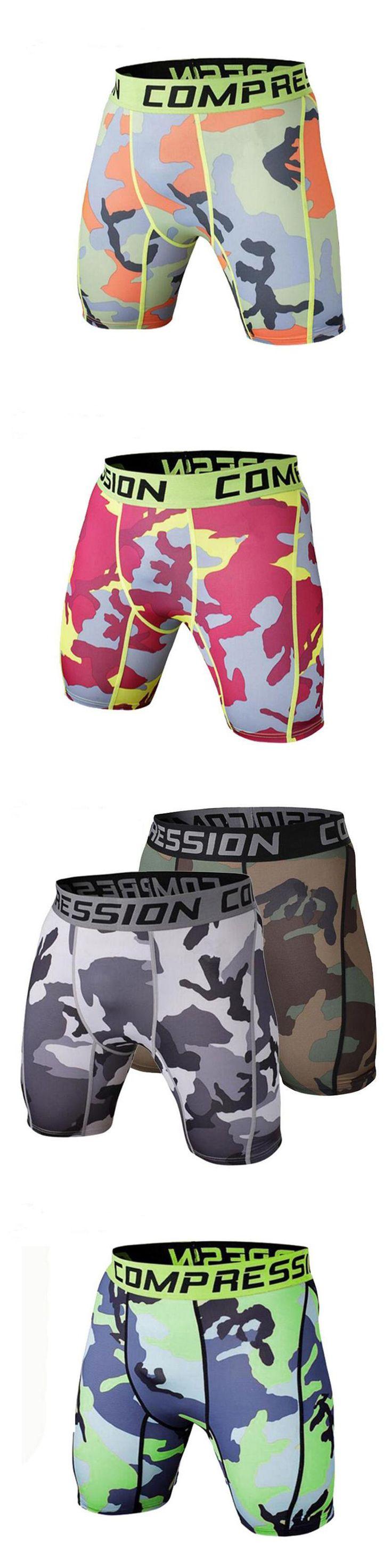 Mens Compression Shorts 2016 Summer Camouflage Bermuda Shorts Fitness Men Cossfit Bodybuilding Tights Camo Shorts