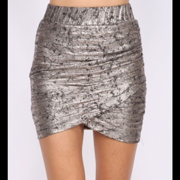 pre order the SABRINA sexy skirt Metallic infused mini skirt in grey and black tones, body con with a textured look. Great for a night out on the town. Sizes S M L. New Luxe boutique Skirts Mini