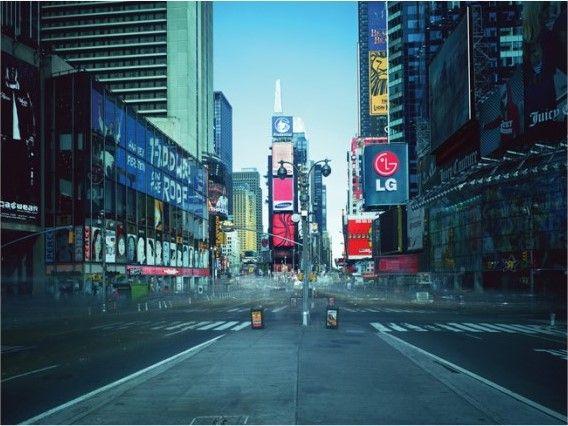김아타 <온에어 프로젝트 110-1 타임스퀘어, 뉴욕> 크로모제닉 프린트 188X248cm 2005