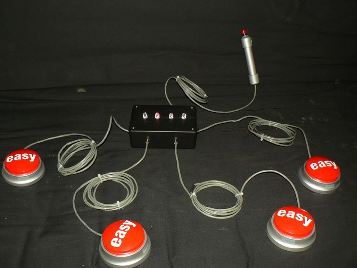 DIY game show buzzer with lights.  How cool would this be in children's church??