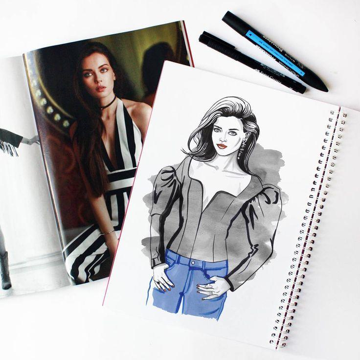 #fashion #fashionillustration #illustration #model