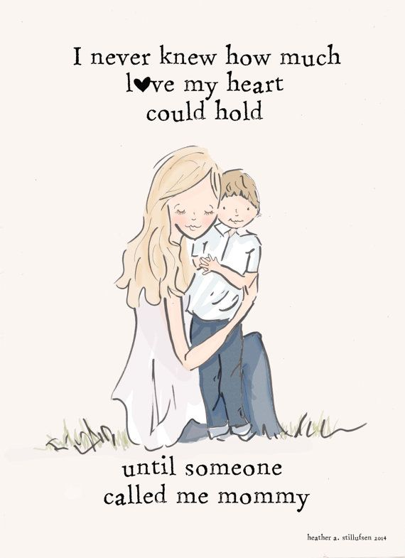 Mother and Son Wall Art Mom and Son by RoseHillDesignStudio