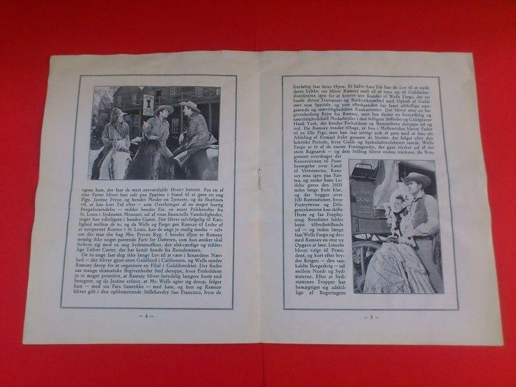 "Danish movie program.""Wells Fargo"" 1937.Joel McCrea.Frances Dee. | eBay"
