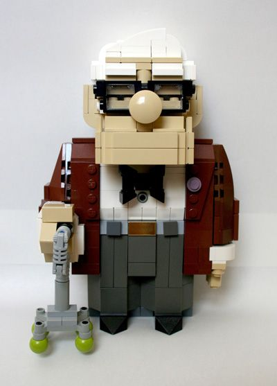 Carl from Up made from Legos - so cute! If you have Lego fans check out the ideas on this page Like, Comment, Repin !!