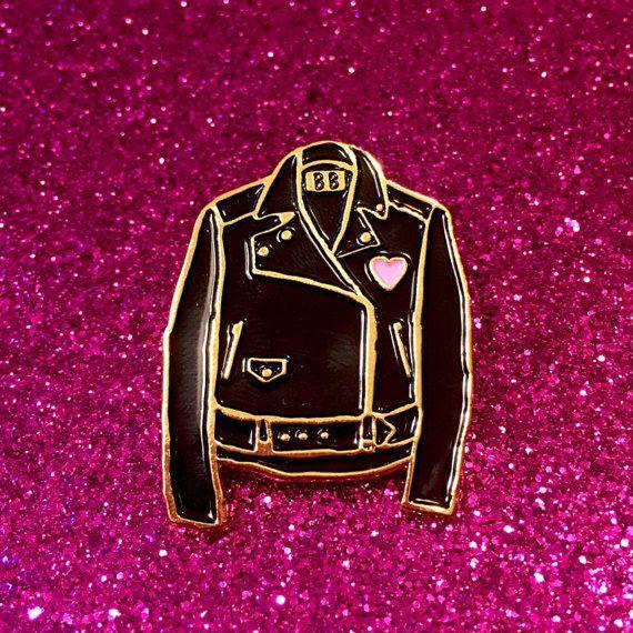 Classic Leather Jacket Enamel Pin by BanannaBones on Etsy