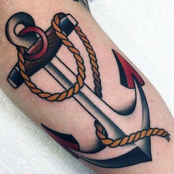 70 Tattoo Anchor Traditional Designs For Men - Idées Vintage - http://clubtatouage.com/2016/08/24/70-tattoo-anchor-traditional-designs-for-men-idees-vintage.html