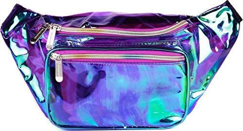 613dd90061a6 Amazon.com | SoJourner Holographic Rave Fanny Pack - Packs for ...
