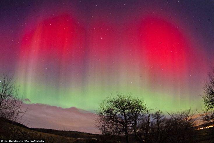 Auroras in the skies over Aberdeen