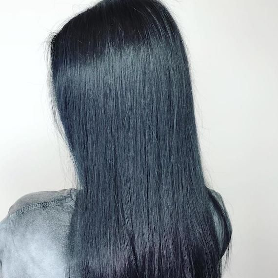 Ultimate Midnight Blue Hair Goals Katie Burrows Has Created A
