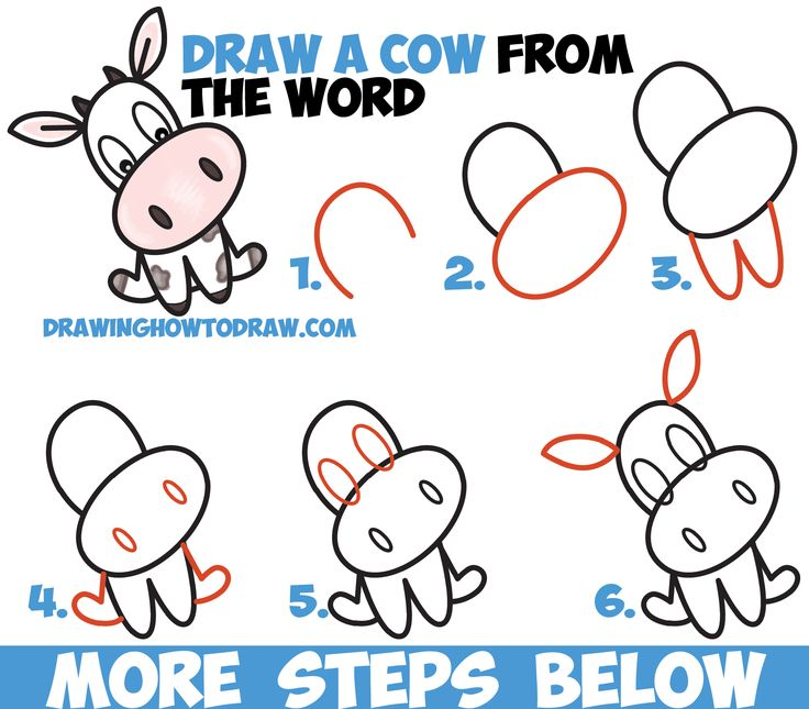 how to draw a cute cartoon kawaii chibi cow word toon easy step by step drawing tutorial for kids drawing step cartoon