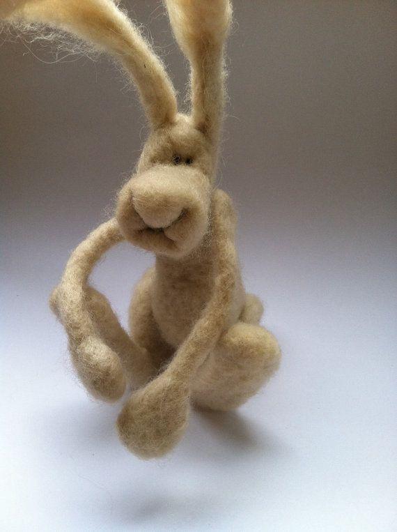 Needle Felted Animal, Bunny Rabbit