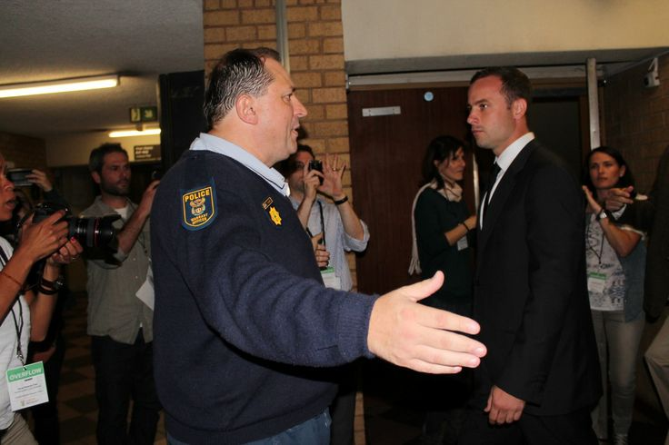 Oscar Pistorius arrives at the North Gauteng High Court ahead of his trial.