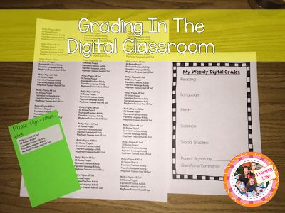 Need ideas for grading and communicating with parents in the digital classroom? Check this out!