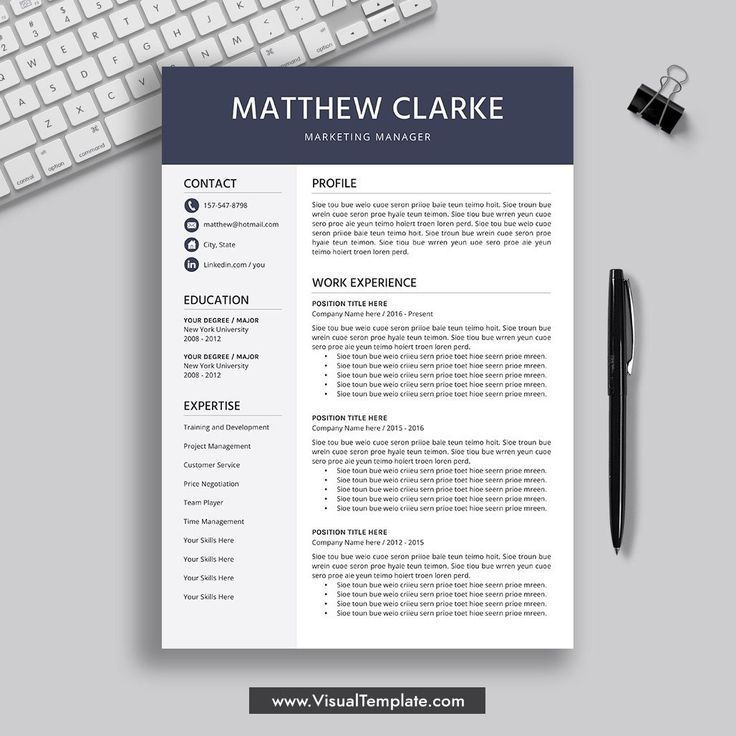20202021 PreFormatted Resume Template with Resume Icons
