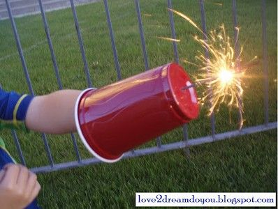 Sparkler shield, just one of TONS of really cute 4th of July ideas.