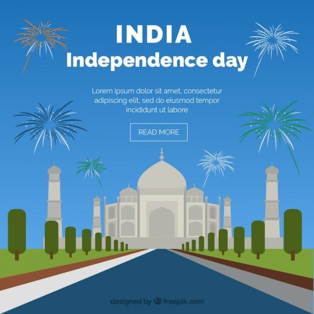 India Independence Day With Taj Mahal Background