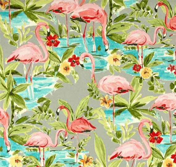 Retro Shower Curtain Pink Flamingo Shower by asmushomeinteriors