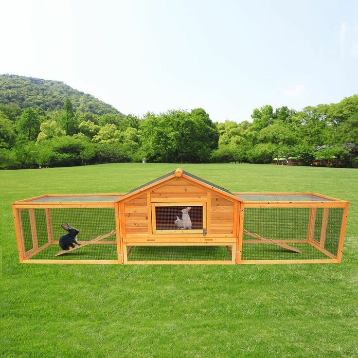 portable wooden rabbit hutch backyard hen house chicken