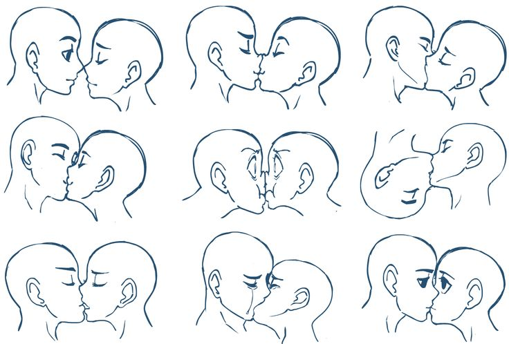 Kisses by SonicRocksMySocks on deviantART [omg, this has always been the hardest thing for me to draw!]