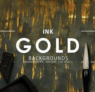 designeour:    Gold Ink Backgrounds by...