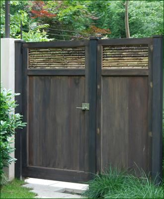Mahogany and Bamboo Gate | Entrance Gates, Wood Gates, and more from Walpole Woodworkers